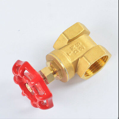 1x Thicken 1/2''~2'' BSP Brass FIP X FIP Gate Valve Red Wheel Handle Top Quality