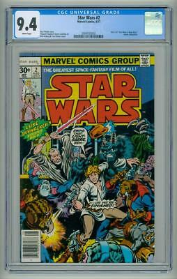 Star Wars #2 Cgc Nm 9.4 White Pages Comic 1977