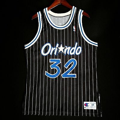 0f33633a 100% Authentic Shaquille O'Neal Vintage Champion Magic Jersey Size 44 M L  Mens