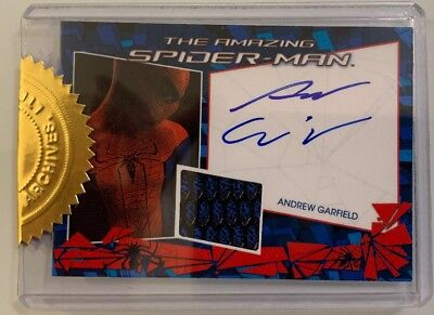Rare The Amazing Spiderman Andrew Garfield Auto/autographed Spiderman Suit Card