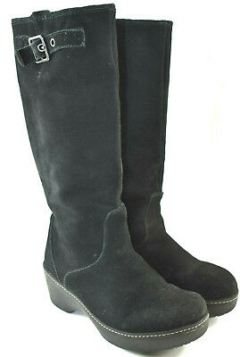 5a1800ec18 Crocs Cobbler Tall Black Suede Knee High Slouchy Boot Women s Size 9