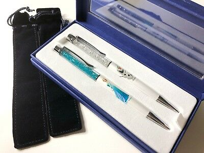 Genuine SWAROVSKI Crystal Disney Frozen Elsa Olaf Pen Set LIMITED EDITION 🇬🇧