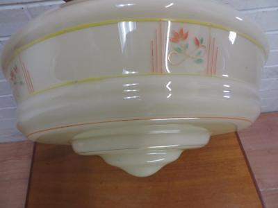 Vintage ART DECO C1930/40's VERY LARGE CEILING LIGHT SHADE