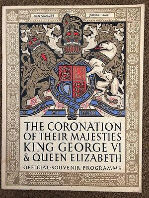 Coronation Of Their Majesties King George VI & Queen Elizabeth Programme 1937