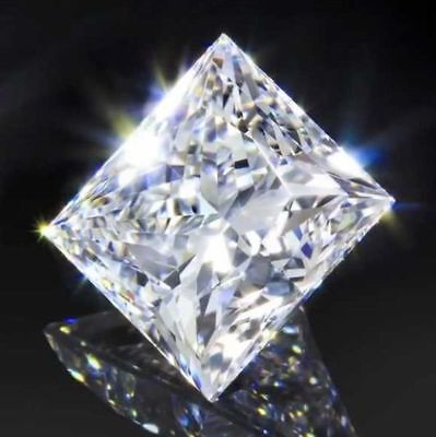 Loose Moissanite White(F-G) Color VVS Princess Excellent Cut For Jewelry
