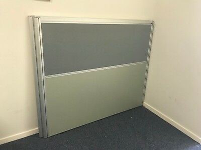 2 Office Dividers - 1.5M wide x 1.25M tall