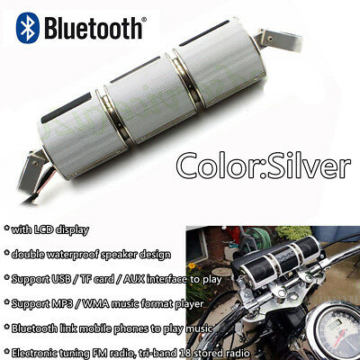LCD Knight Bluetooth Stereo Motorcycle Bike MP3 Music Audio FM Amplifier Speaker
