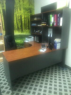 L-Shape Workstation Executive 1800x1800 Corner Desk Office w Drawers Shelf/Hutch
