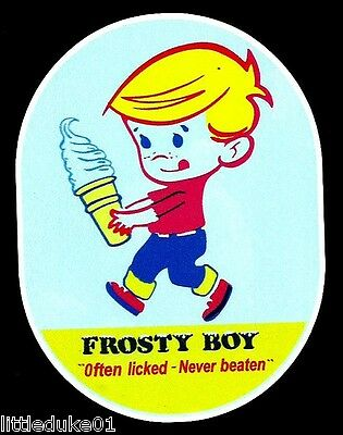 """FROSTY BOY"" OFTEN LICKED - NEVER BEATEN VINYL Sticker / Decal Ice Cream"