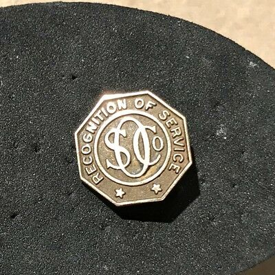 Standard Oil Co Recognition of Service Award Octagonal 14K Gold Pin