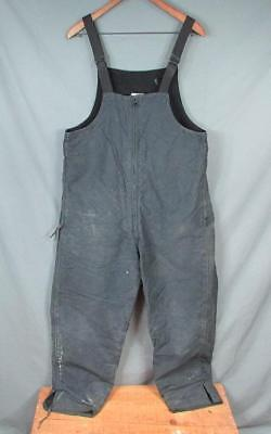 Vintage WWII US Navy Blue Deck Pants Trousers Bib Overalls USN Military 1940s M