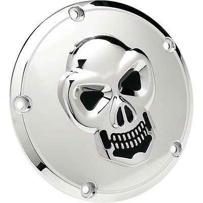 3D Skull Clutch Cover Chrome, F.Harley - Davidson Twin Cam 99 - 18