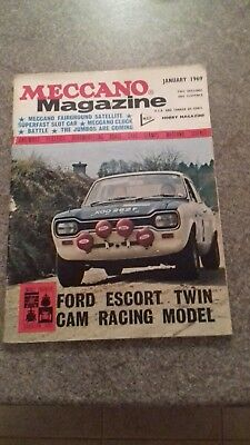January 1969 Meccano Magazine Ford Escort Twin Cam Racing Model On Front