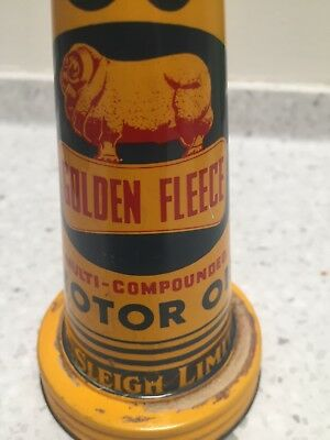 vintage golden fleece 50 tin pourer lid near mint condition