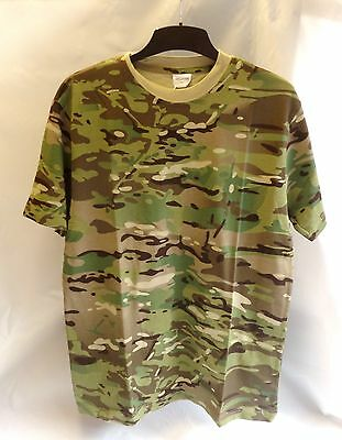 Military Army T Shirt British Multicam Mtp Size Large