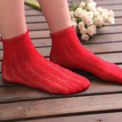 Thin Hollow Floral Cotton Socks Women Lace Sock Low Cut Socks For Spring Summer