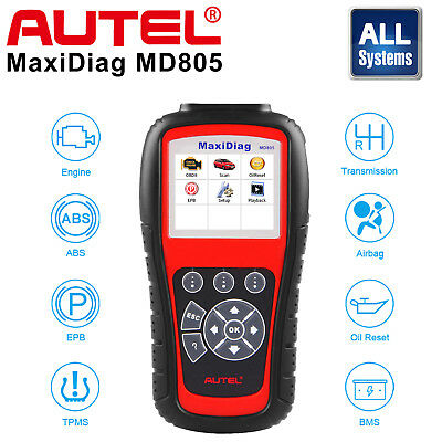 Autel MD805 All System Auto Diagnostic Tool ABS SRS SAS EPB Code Reader As MD802