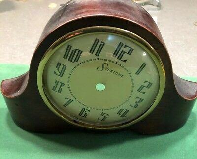 MANTLE CLOCK- PARTS -SESSIONS WOOD - face and Glass parts