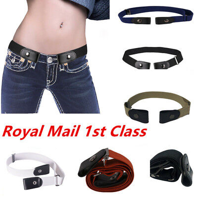 Unisex Buckle-Free Elastic Belts Invisible Belt Waist for Jeans No Bulge Hassle