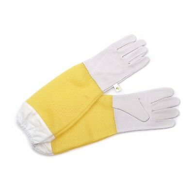 BEEKEEPING GLOVES BEEComb | leather, size L, white, yellow | protective gloves