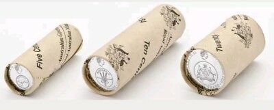 2016 5c, 10c, 20c Decimal Currency Changeover 50th Anniversary Mint Rolls