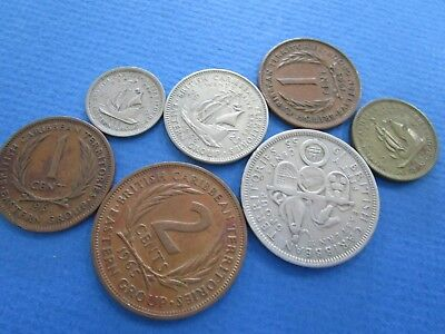 7 x British Caribbean Territories Coins