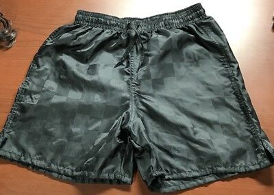 Umbro Soccer Shorts Rio Check Black Youth Size Small Very Clean EUC Smoke Free