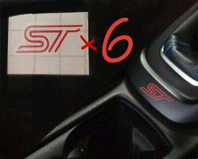 6x Ford ST Stickers Multiple Colours + FREE Gift, Focus Mondeo Fiesta