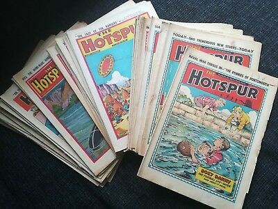 The Hotspur Comics Job Lot 1950 to 1959 Vintage 37 Comics Issues