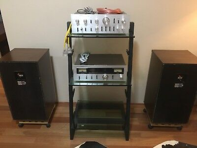 Vintage Stereo System with Speakers