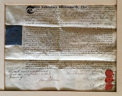 George IV - 1824 Apprenticeship Indenture to Bermondsey Lacemaker. Jones & Banks