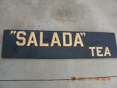 "Salada Tea  Sign  48"" X 11 1-2"""