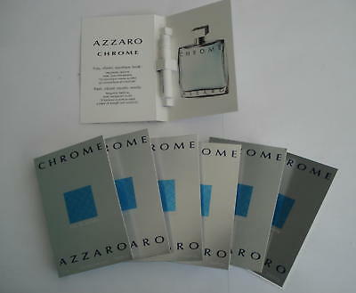 Lot 7 Echantillons Azzaro Chrome  Eau De Toilette 1.2 Ml -- Tigettes