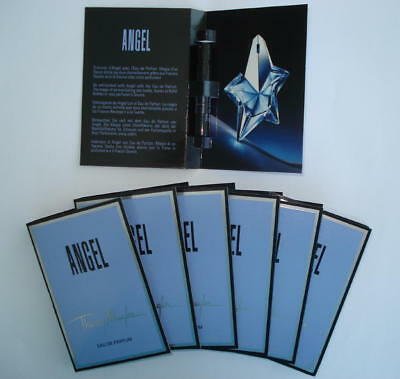 Lot 7 Echantillons Angel  Thierry Mugler Eau De Parfum -  Tigettes Noires 1.2 Ml