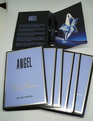 Lot 7 Echantillons Thierry Mugler Angel Eau De Parfum 1.2 Ml Vapo