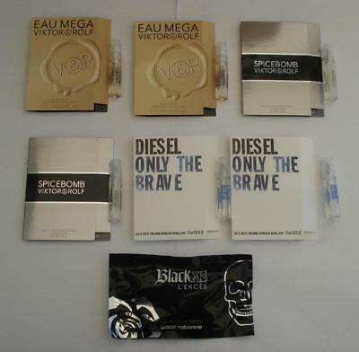 Lot 7 Echantillons Diesel Viktor And Rolf Rabanne  - Only The Brave Eau Mega ...