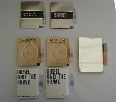 Lot 7 Echantillons Diesel Viktor And Rolf Gaultier - Only The Brave Eau Mega ...