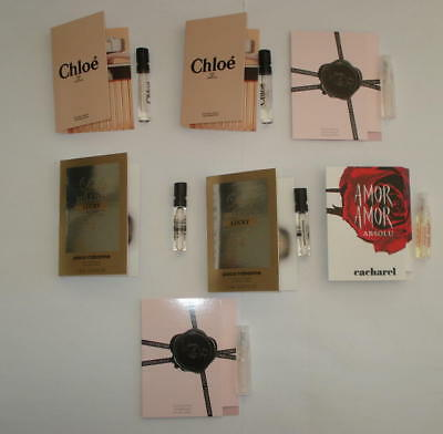 Lot 7 Echantillons Chloe Cacharel Viktor And Rolf Rabanne