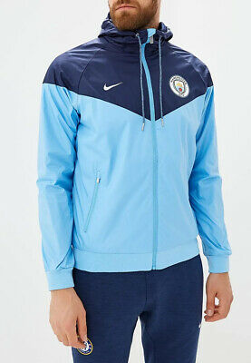 Manchester City Nike Giacca Sportiva Sport Jacket Azzurro Authentic Windrunner