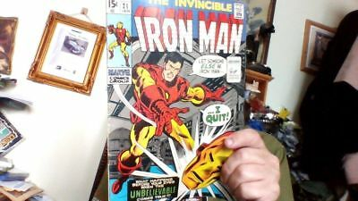 IRON MAN 21 1st SERIES + FREE CD OR DVD IN CARDBOARD WAL MARVEL COMIC 15 CENTS