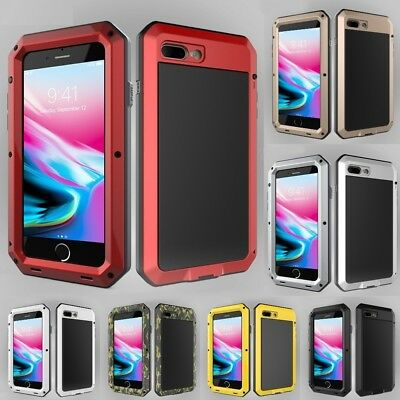Metal Aluminum Phone Case Heavy Duty Case For iPhone Shock Proof Hybrid Cover