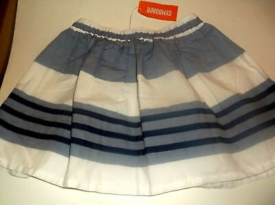 GYMBOREE ✿ 8 ✿ SKIRT ✿*NWT* Cute Blue,Wht Stripes,Navy Ribbons Completely Lined