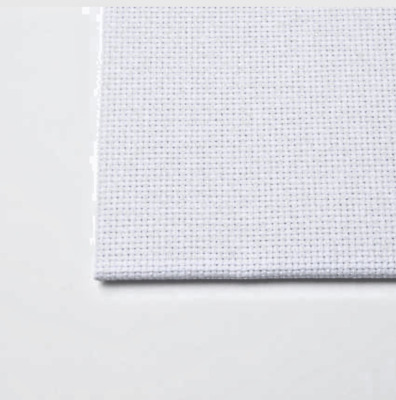 "AIDA 14 COUNT WHITE CROSS STITCH COTTON FABRIC MATERIAL 12"" x 12"" FREE P&P"
