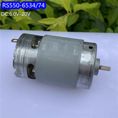 DC 6V~20V 12V 18V 20500RPM High Speed Large Torque RS-550 Electric Drill Motor