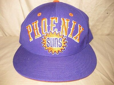 new concept 64f6b 5f5dc ... sale nba mitchell ness phoenix suns 7 3 8 arch logo fitted purple hat  cap b6169