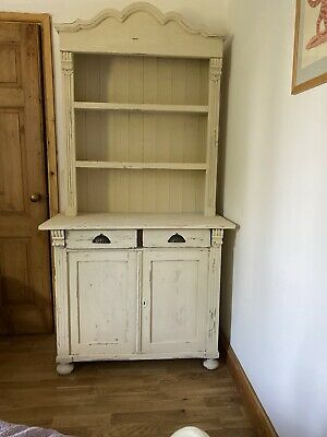 Beautiful Old Pine Kitchen Cupboard Display Dresser  Storage Antique Vintage