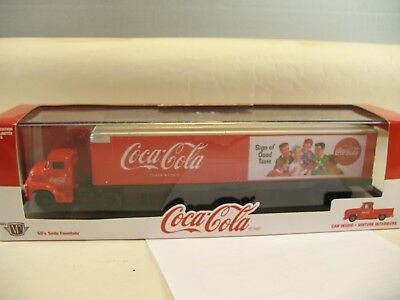 M42 Coca Cola 50's beverage delivery truck+free car inside Limited edition 1:64