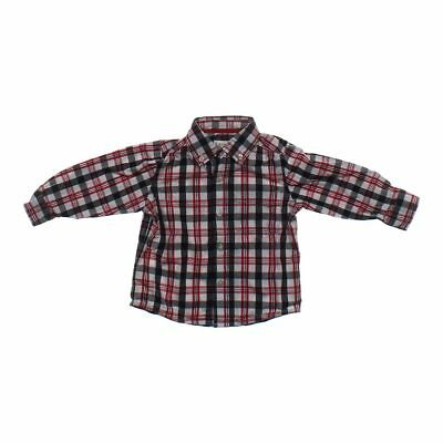 The Children's Place Baby Boys Plaid Button-down Shirt, size 18 mo,  red, white