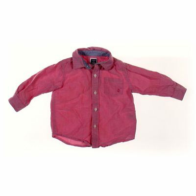 Janie and Jack Baby Boys Shirt, size 6 mo,  pink, maroon,  cotton