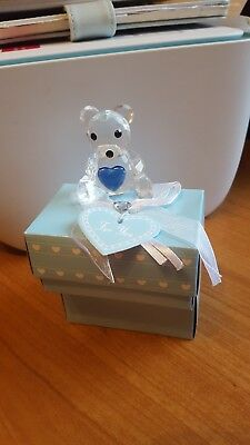 Beautiful Stunning Crystal Collection Teddy Bear  Ornament - Gift Boxed